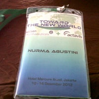 Photo taken at Mercure Convention Center by noeyrma a. on 12/11/2012