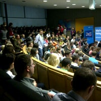 Photo taken at SSE Riga | Stockholm School of Economics by Ingars R. on 10/28/2012