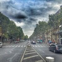 Photo taken at Boulevard de la Madeleine by Baptiste on 8/16/2015