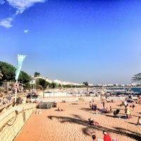 Photo taken at Plage de la Croisette by Baptiste on 9/1/2015