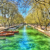 Photo taken at Canal du Thiou by Baptiste on 5/6/2016
