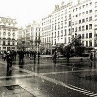 Photo taken at Place des Terreaux by Baptiste on 2/9/2013
