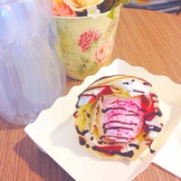 Photo taken at Crepe Cafe' by nuiy on 6/13/2015