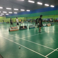 Photo taken at Champion Badminton Court by Hakim H. on 10/31/2016