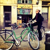 Photo taken at Green Bikes Barcelona Rentals & Tours by Peter S. on 12/30/2013