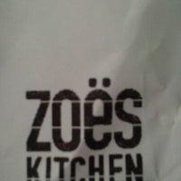 Photo taken at Zoës Kitchen by Muñequita on 5/10/2012