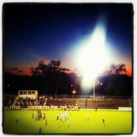 Photo taken at MHS football stadium by Haley A. on 9/8/2012