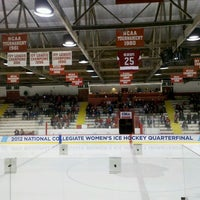 Photo taken at Lynah Rink by CJ D. on 3/10/2012