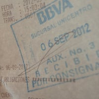 Photo taken at BBVA Unicentro by Daniel on 9/6/2012