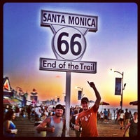 """Photo taken at Santa Monica Route 66 """"End of the Trail"""" by Brian D. on 8/14/2012"""