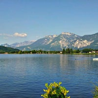Photo taken at Lago di Caldonazzo by Mikalai S. on 6/17/2012