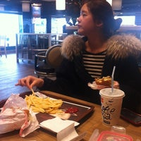 Photo taken at Lotteria by Seung Ah L. on 2/23/2012