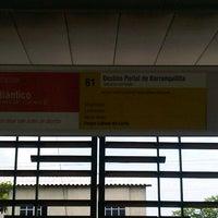 Photo taken at Transmetro Estación Atlántico by Nicolás O. on 7/31/2012