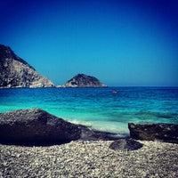 Photo taken at Petani Beach by Elias on 8/16/2012