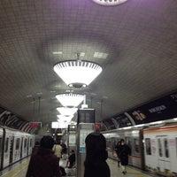 Photo taken at Midosuji Line Shinsaibashi Station (M19) by Haruna S. on 2/17/2012