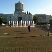 Photo taken at Capitol Mall Fountain by Amanda M. on 8/10/2012