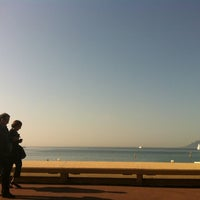 Photo taken at Boulevard de La Croisette by Kenji I. on 3/24/2012