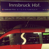 Photo taken at Innsbruck Hauptbahnhof by Nuno M. on 8/11/2012