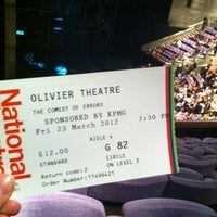Photo taken at National Theatre by Poppy C. on 3/23/2012