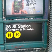 ... Photo taken at MTA Subway - 28th St (R/W) by alison on ...