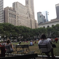 Photo taken at Southwest Porch at Bryant Park by Phil M. on 7/13/2012