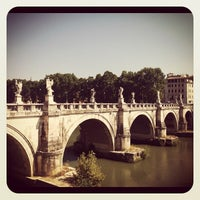 Photo taken at Ponte Sant'Angelo by Alejandro A. on 8/25/2012
