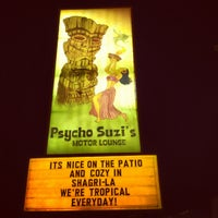 Photo taken at Psycho Suzi's Motor Lounge & Tiki Garden by Brandon W. on 8/11/2012