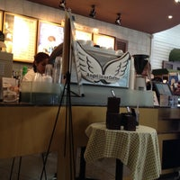 Photo taken at Angel-in-us Coffee by Kim T. on 6/28/2012