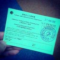 Photo taken at Tseung Kwan O Swimming Pool 將軍澳游泳池 by Dawin M. on 8/21/2012