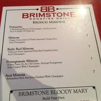 Photo taken at Brimstone Woodfire Grill by Orlando F. on 2/18/2012