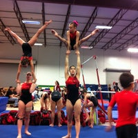 Photo taken at Alamo Heights Gymnastics Academy by Jenny M. on 3/24/2012