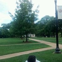 Photo taken at University of Alabama Quad by Hüseyin E. on 4/8/2012