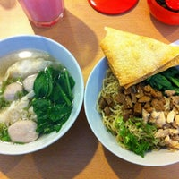 Photo taken at Bakmi Aping by Samuel S. on 5/17/2012