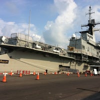 Photo taken at HTMS Chakri Naruebet by Kung-khaohom B. on 4/24/2012