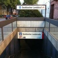 Photo taken at U Seckbacher Landstraße by Maggowitsch W. on 9/30/2011