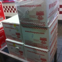 Photo taken at Five Guys by Robin C. on 11/19/2011