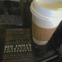 Photo taken at Red Emma's Bookstore Coffeehouse by Drew H. on 10/10/2011
