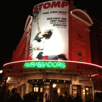 Photo taken at Ambassadors Theatre by Virginie D. on 12/18/2011