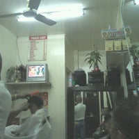 """Photo taken at Ian's Barber Shop by Nat """"Mc Gyver"""" C. on 9/25/2011"""