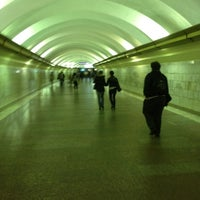 Photo taken at metro Ligovsky Prospekt by Vitaliy F. on 7/15/2012