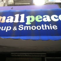 Photo taken at Small Peace Soup & Smoothie by Jonathan V. on 4/2/2012