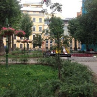 Photo taken at Дмитровский сквер (Эльфийский садик) by Andrei K. on 8/31/2012