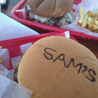 Photo taken at Sam's Burger Joint by Joe A. on 3/22/2012