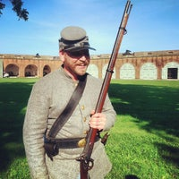 Photo taken at Fort Pulaski by Ty M. on 9/2/2012