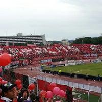 Photo taken at Estadio Olímpico Universitario by Jesús U. on 8/13/2012