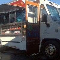Photo taken at La Penca Azul Taco Truck by briibrii on 12/21/2011