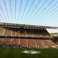 Photo taken at Estádio Municipal de Braga by Rita C. on 8/22/2012