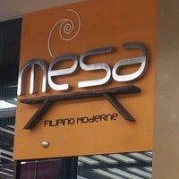Photo taken at Mesa Filipino Moderne by Paolo M. on 5/13/2012