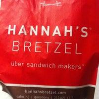 Photo taken at Hannah's Bretzel by William R. on 7/24/2012