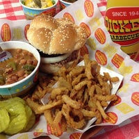 Photo taken at Dickey's Barbecue Pit by Patrick F. on 3/23/2012
